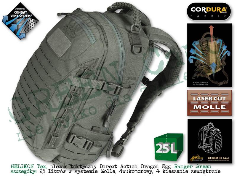 cea92887997b DIRECT ACTION plecak Dragon Egg® - Cordura® - Ranger Green 25l.