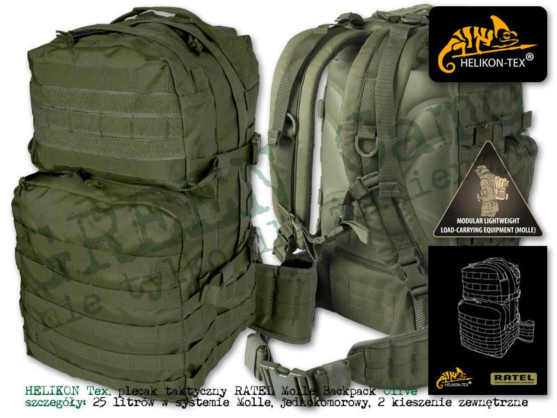 1fbc0bcc5a646 HELIKON Tex. plecak taktyczny RATEL 25l. Molle Backpack Olive