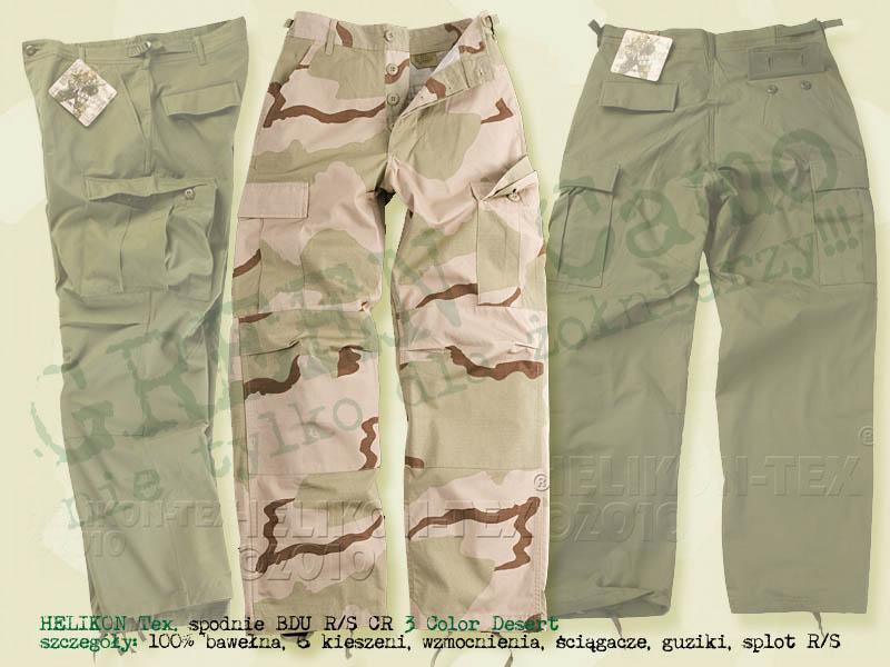 HELIKON Tex. spodnie BDU CR RS 3 Color Desert Camo
