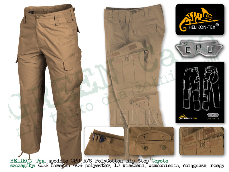 HELIKON Tex. spodnie CPU RS PR Coyote