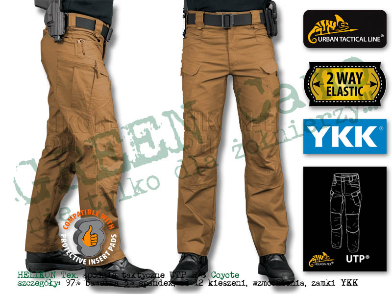 HELIKON Tex. spodnie taktyczne UTP Urban Tactical Pants Black