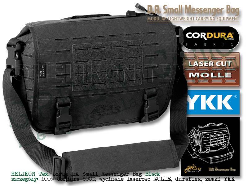 a610b3bd2d5f8 DIRECT ACTION torba na ramię Messenger Bag® Small - Cordura® - Czarna Black