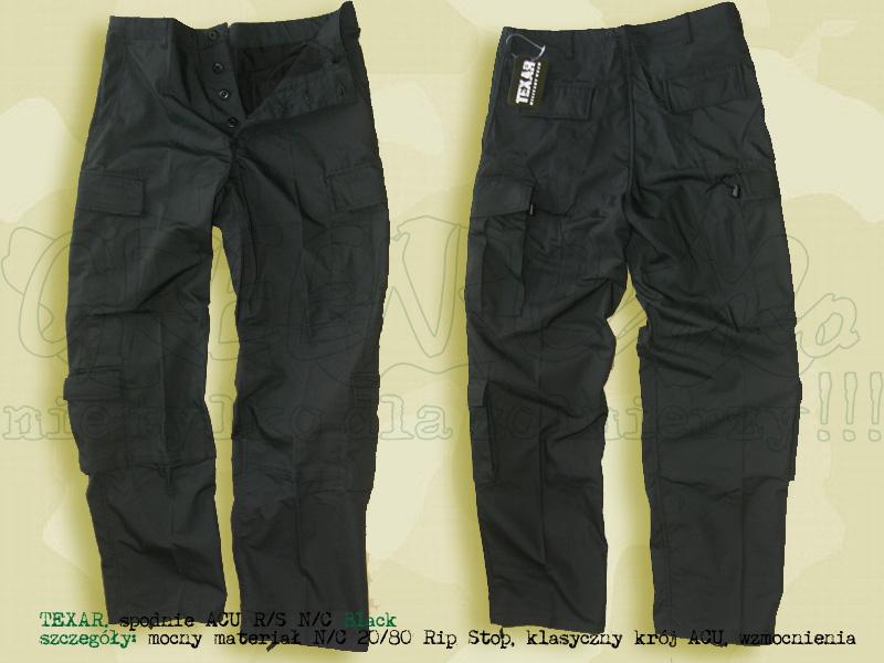 TEXAR spodnie ACU RS NyCo Black
