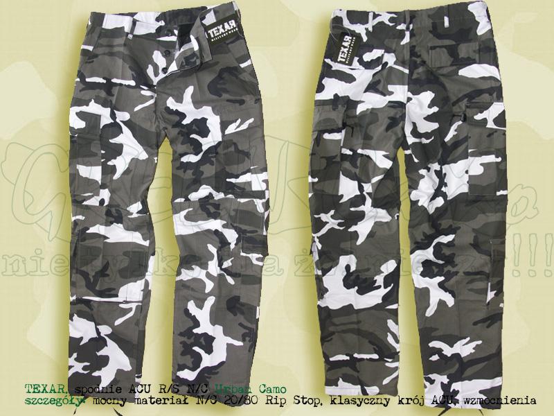 TEXAR spodnie ACU RS NyCo Urban Camo