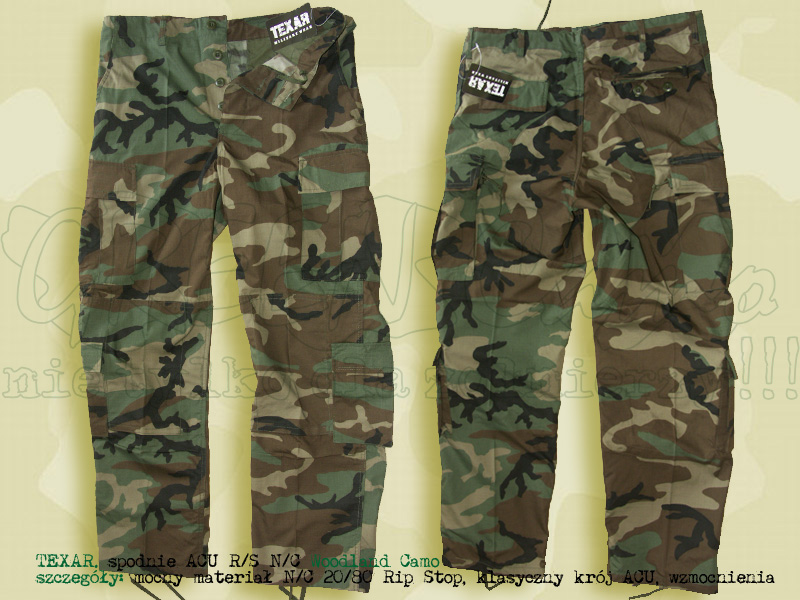 TEXAR spodnie ACU RS NyCo Woodland Camo