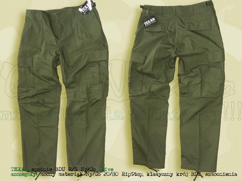 TEXAR spodnie BDU RS NyCo Olive