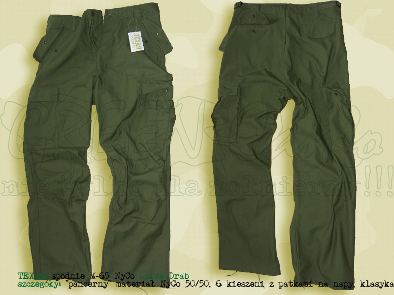 TEXAR spodnie M65 NyCo Olive
